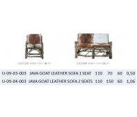 JAVA GOAT LEATHER SOFA 1 SEAT