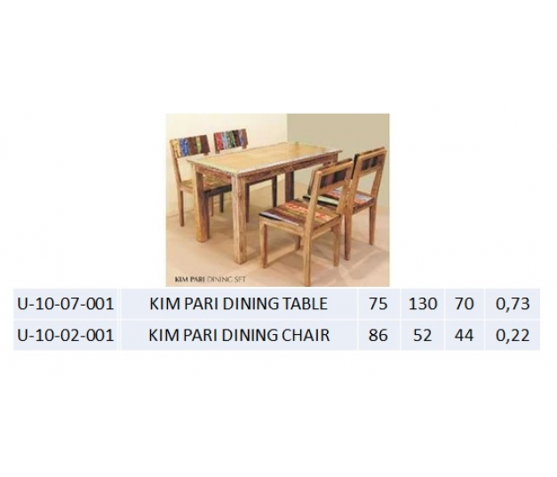 KIM PARI DINING TABLE
