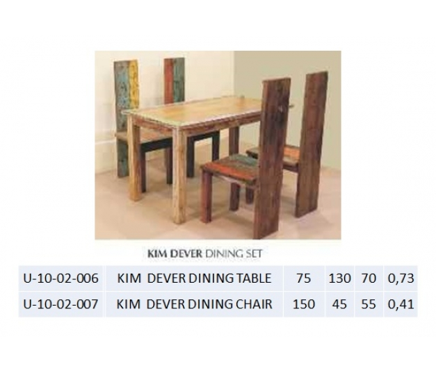 KIM  DEVER DINING CHAIR