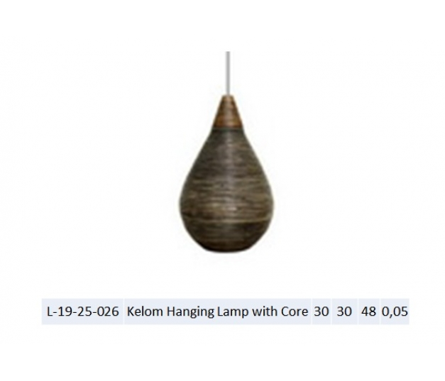 Kelom Hanging Lamp with Core