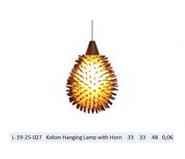 Kelom Hanging Lamp with Horn