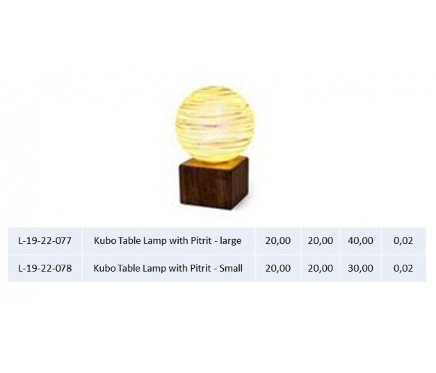 Kubo Table Lamp with Pitrit - large