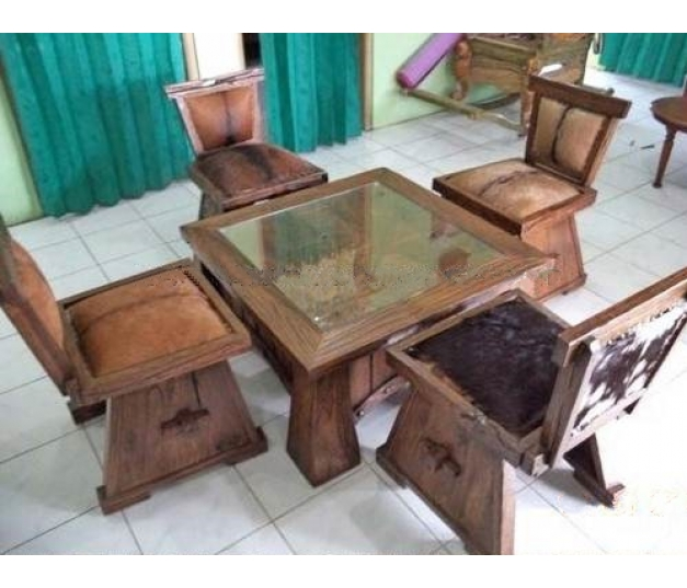 Antique reclaimed coffee table set Apache