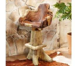 LOG TEAK WOOD FURNITURE TYPE BARSTOOL