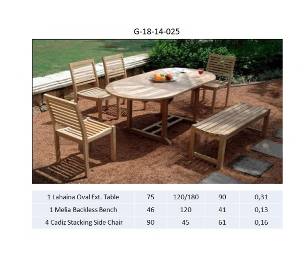 Lahaina Oval Ext. Table Dining room set