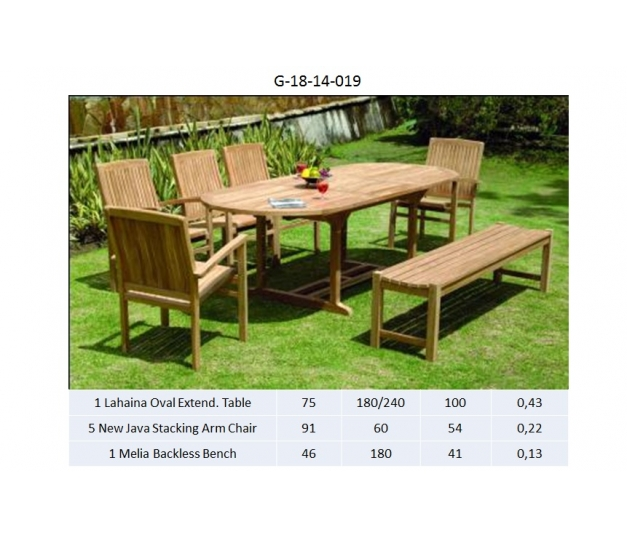 Lahaina Oval Extend. Table Dining room set