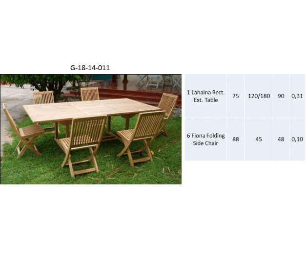 Lahaina Rect. Ext. Table Dining room set