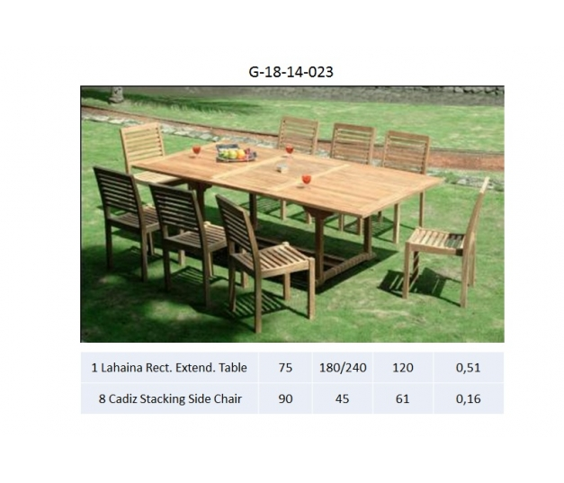 Lahaina Rect. Extend. Table Dining room set