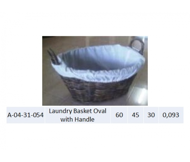 Laundry Basket Oval with Handle 054