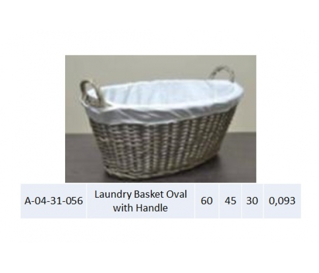 Laundry Basket Oval with Handle 056