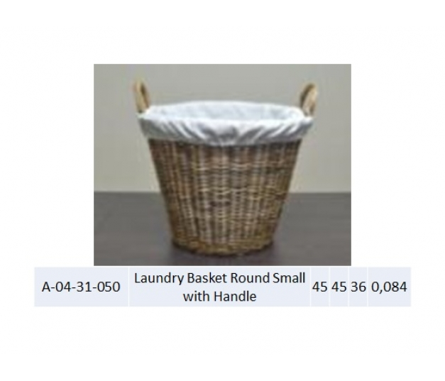 Laundry Basket Round Small with Handle 050