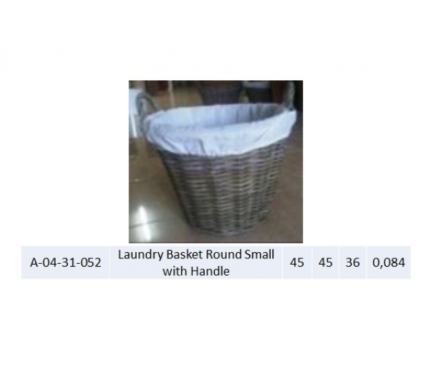 Laundry Basket Round Small with Handle 052