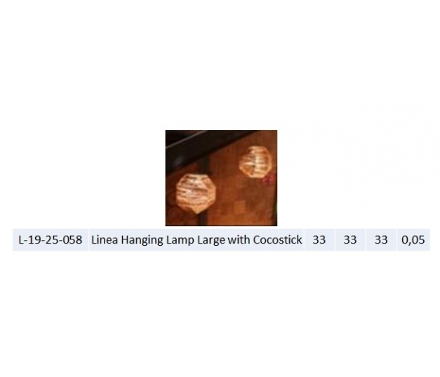 Linea Hanging Lamp Large with Cocostick