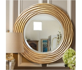 MIRROR WITH CARVING FRAME CIRCLE