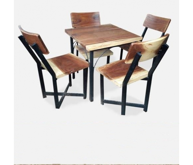 Antique laminated stainless dining table set