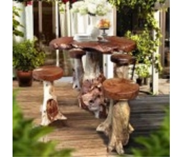 ORGANIC TEAK PRIMITIVE ROOT TABLE JAVA