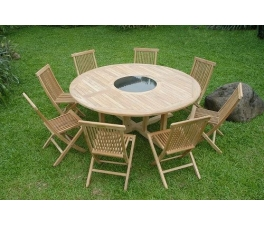 Teak garden dining table sets