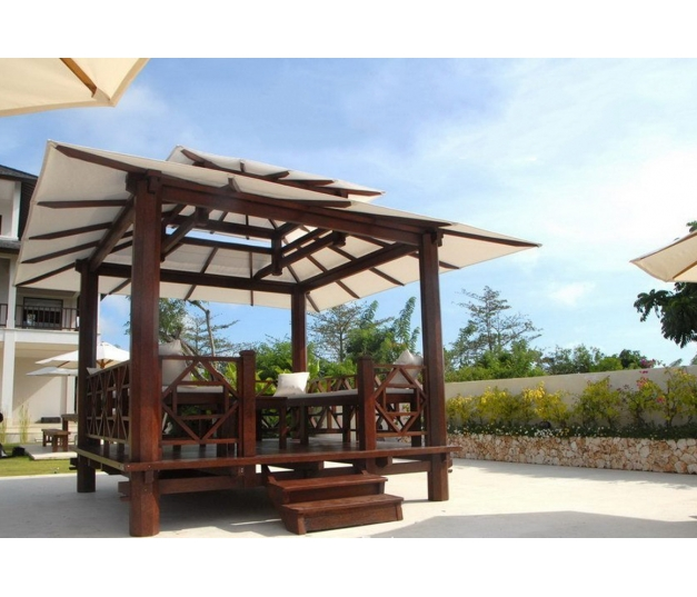 Jepara Coconut Wood Gazebo