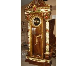 Decorative carving clock cabinet