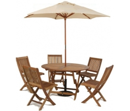 Umbrella Garden Dining Table Set