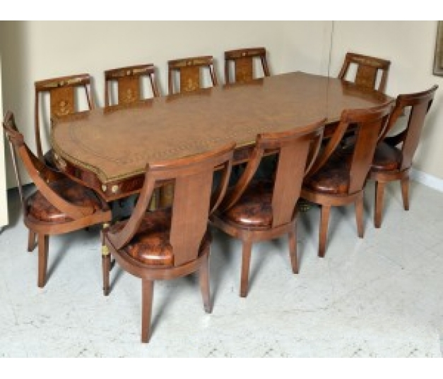 Italian 10 Chairs Dining Set