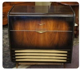 Antique Radio Record Player Grundig Mini Cabinet