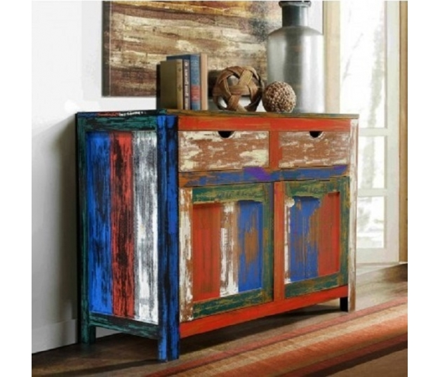 BUFFET 2 DOORS BOAT RECYCLED