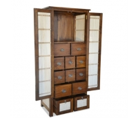 CABINET MINIMALIS COMBINATION TEAK AND BAMBOO
