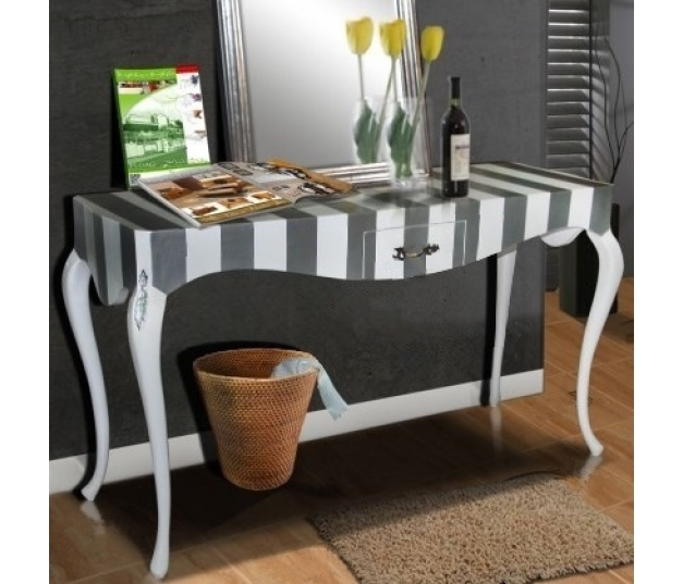 Console Table Luis XIV Two Tone Stripe