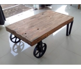 Antique Wooden Guest Table Industrial Trolley