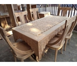 Carved Teakwood Dining Table Shawl