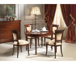 Classic Oval Teakwood Dining Chair Set