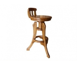 Minimalist Teakwood Bar Chair Rhesa