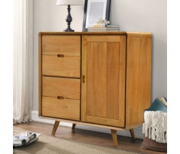 Classic Vintage Teakwood Chest of Drawers Cabinet