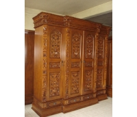 Gebyok carved teak wardrobe