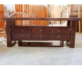 Solid Hanging TV-Table Credenza