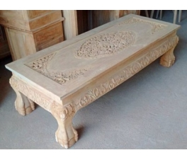 Rococo Carved Teakwood Guest Table