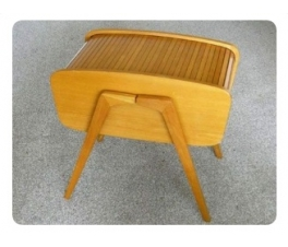 Mid-century Roll Top Sewing Box