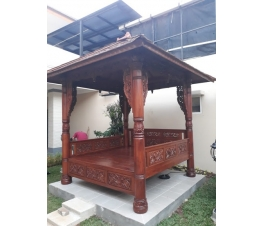 Teakwood Gazebo With Carving