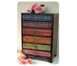 Multicolored Chest of Drawers