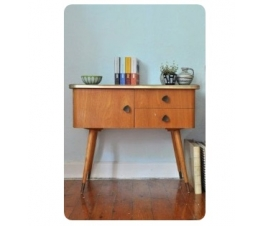 Rounded Edges Retro Console Table